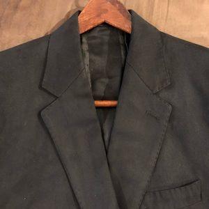 Ralph Lauren Black Suede Blazer Sport Coat 41R
